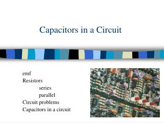 Capacitors in a Circuit