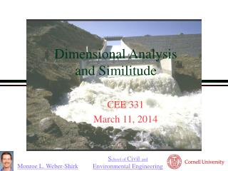 Dimensional Analysis  and Similitude