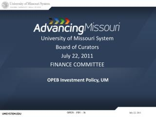OPEB  Investment Policy, UM