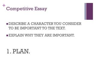 Competitive Essay