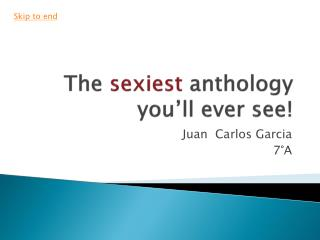 The  sexiest  anthology you�ll ever see!