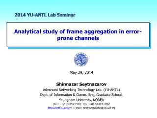Analytical study of frame aggregation in error-prone channels