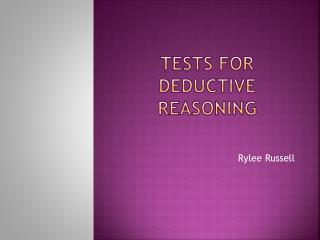Tests For Deductive Reasoning