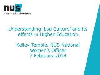 Understanding 'Lad Culture' and its effects in Higher Education