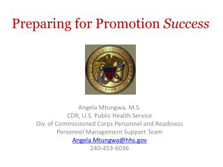 Preparing for Promotion  Success