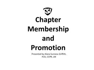 Chapter Membership and Promotion
