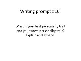 Writing prompt #16