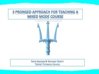 3 Pronged approach for teaching a mixed mode course