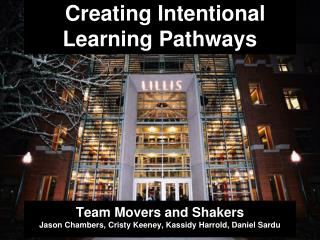 Creating Intentional Learning Pathways
