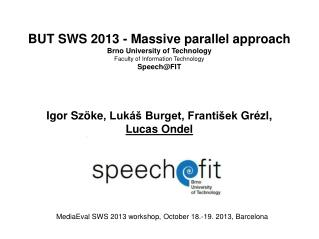 BUT SWS 2013 - Massive parallel approach