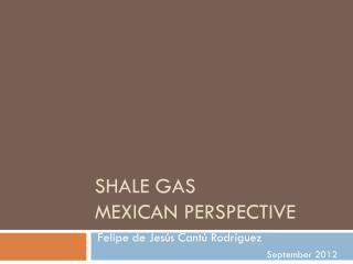 SHALE  GAS  MEXICAN  PERSPECTIVE