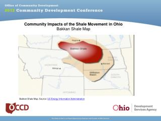 Community Impacts of the Shale Movement in Ohio Bakkan Shale Map