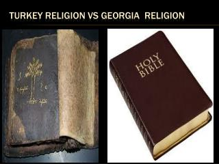 TURKEY Religion VS Georgia  Religion