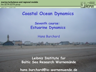 Estuarine  Coastal Modelling Course
