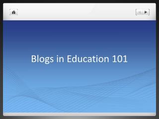 Blogs in Education 101