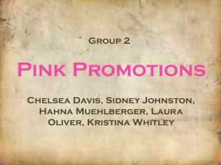 Pink Promotions