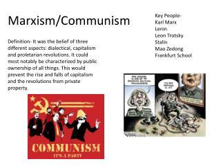 Marxism/Communism