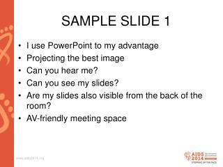 SAMPLE SLIDE 1