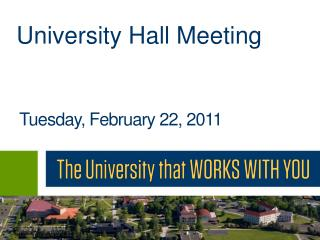 University Hall Meeting