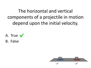 The horizontal and vertical components of a projectile in motion depend upon the initial velocity.