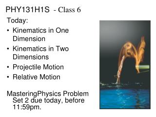 PHY131H1S   - Class 6