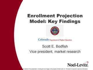 Enrollment Projection Model: Key Findings