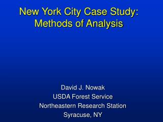 New York City Case Study: