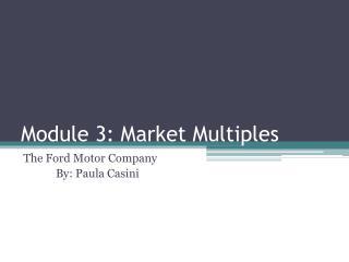 Module 3: Market Multiples