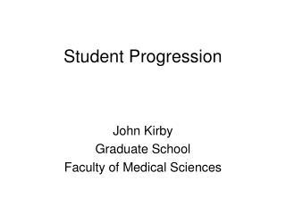 Student Progression