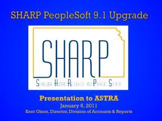 SHARP PeopleSoft 9.1 Upgrade