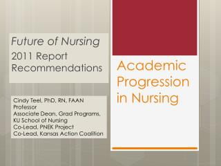 Academic Progression in Nursing