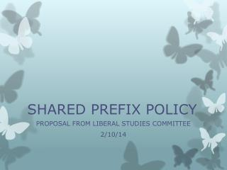 SHARED PREFIX POLICY