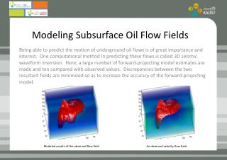 Modeling Subsurface Oil Flow Fields