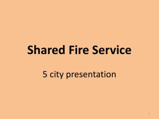 Shared Fire Service