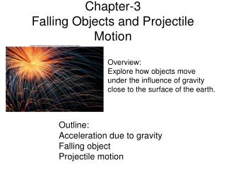 Chapter-3 Falling Objects and Projectile Motion