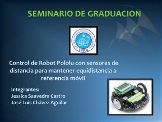 Control de Robot Pololu con sensores de distancia para mantener equidistancia a referencia móvil