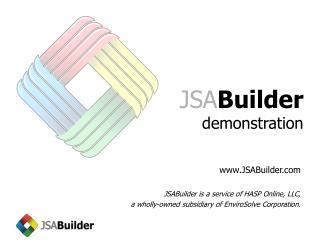 JSA Builder demonstration