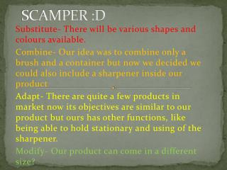 SCAMPER :D