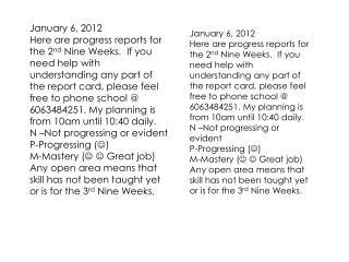 January 6, 2012