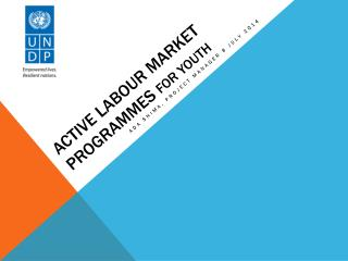 Active  Labour  Market  Programmes for Youth