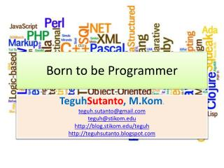 Born to be Programmer