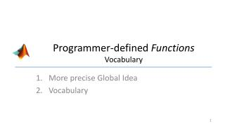 Programmer-defined  Functions Vocabulary