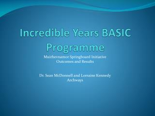 Incredible Years BASIC Programme