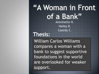 Antoinette H. Hailey B. Cassidy C.