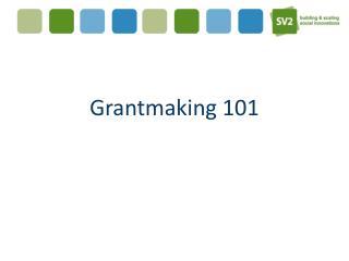 Grantmaking  101