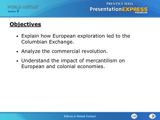 Explain how European exploration led to the Columbian Exchange. Analyze the commercial revolution.