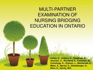 MULTI-PARTNER  EXAMINATION OF NURSING BRIDGING EDUCATION IN ONTARIO