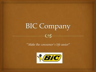 BIC  C ompany
