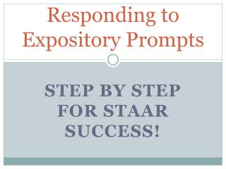 Responding to Expository Prompts