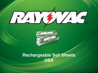 Rechargeable Sell Sheets USA